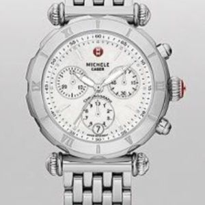 Michele NON- Diamond Caber Watch Stainless Steel